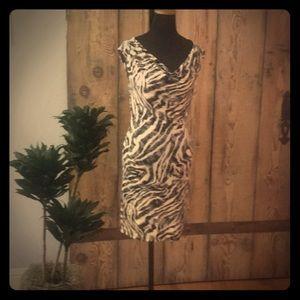 Velvet Brand Zebra print jersey dress